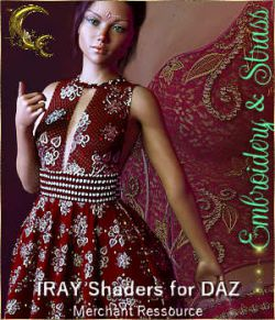 Embroidery & Strass- IRAY Shaders for DAZ