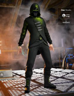 Sci-Fi Assassin Outfit for Genesis 8 Male(s)