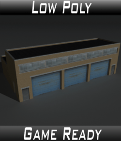 Low Poly Factory Building 11 - Extended Licence
