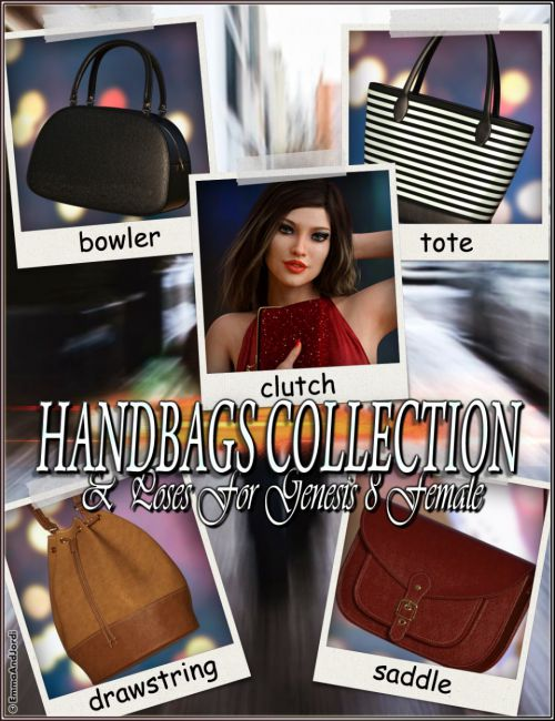 EJ Handbags Collection and Poses for Genesis 8 Female(s)