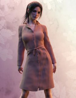 X-Fashion Trench Coat for Genesis 8 Female(s)