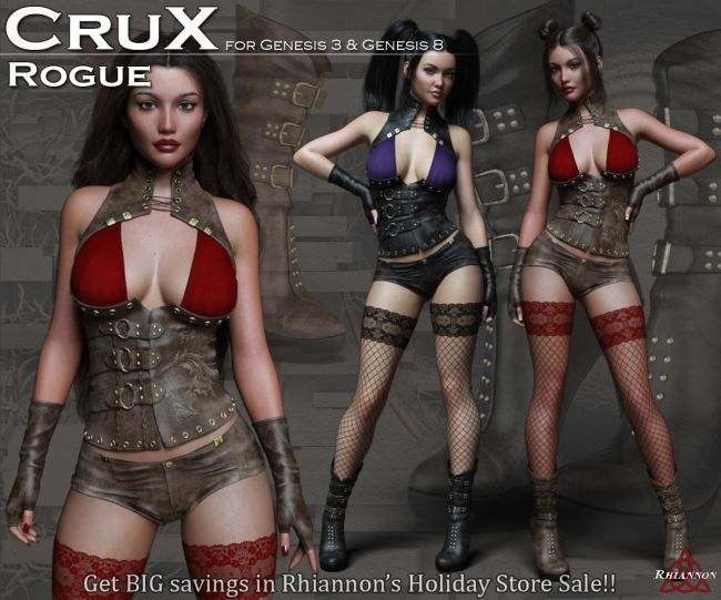 CruX Rogue for the Genesis 3 and Genesis 8 Females