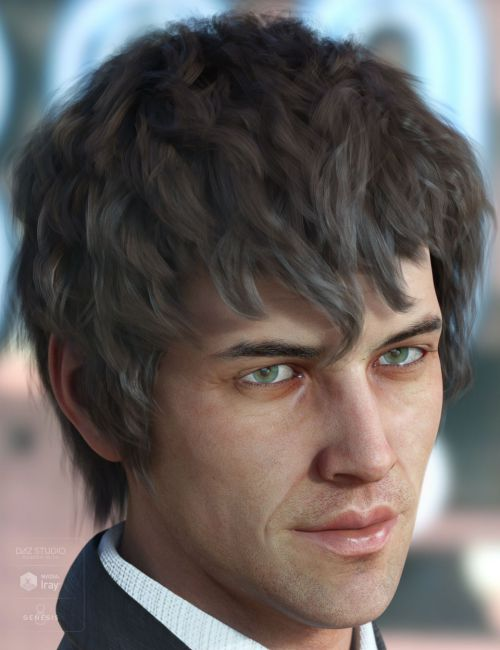 Royce Hair for Genesis 3 & 8 Male(s)