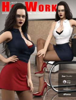 Hot Work Costume Set for Genesis 8 Females(s)
