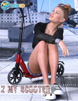 Z My Scooter Prop and Poses for Genesis 3 and 8
