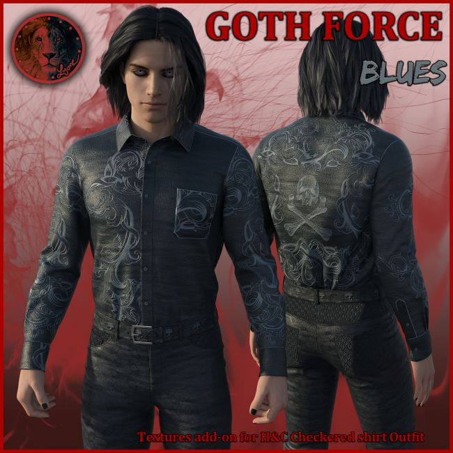 Goth Force blues for H and C Checkered Shirt Outfit for G8M
