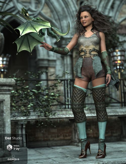 dForce Wind Guardian Outfit for Genesis 8 Female(s)