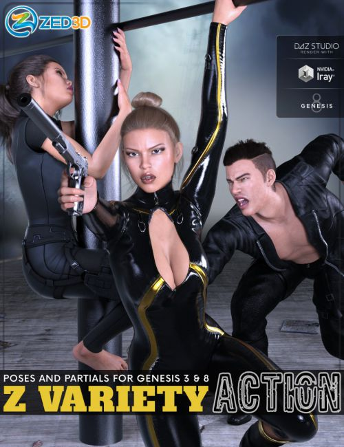 Z Variety Action Pose Collection for Genesis 3 and 8