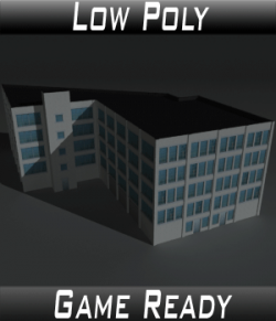Low Poly Factory Building 13 - Extended Licence