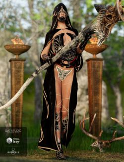 dforce Order of the Huntress: The Acolyte Outfit for Genesis 8 Female(s)