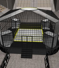 Cages for Dex's Wrestling Set (Poser 7+)