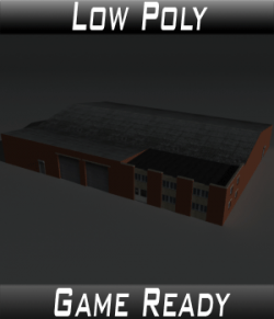 Low Poly Factory Building 21 - Extended Licence