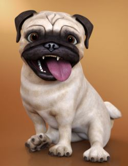 Pugsley the Stylized Pug
