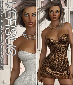 VERSUS- Sweet Slinky Outfit Set for Genesis 8 Females
