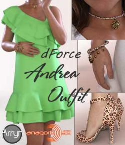 dForce Andrea Outfit for G8F