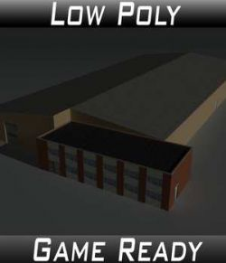 Low Poly Factory Building 22 - Extended Licence