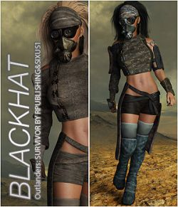 BLACKHAT - Outlanders: Survivor - for DazStudio and Genesis 8 Female