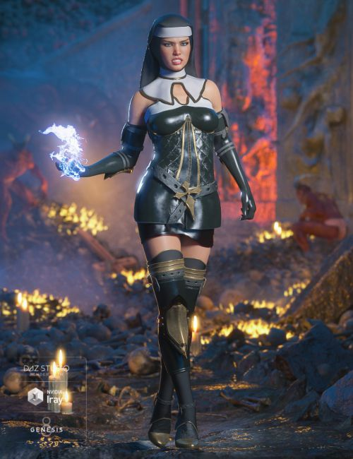 dForce Sister Mary Outfit for Genesis 8 Female(s)
