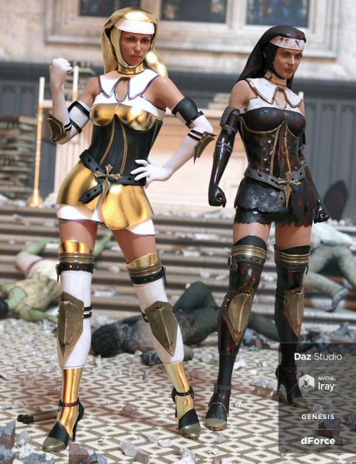 dForce Sister Mary Outfit Textures