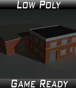 Low Poly Factory Building 23- Extended Licence
