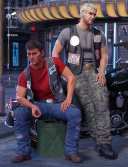 dForce Biker Outfit Textures