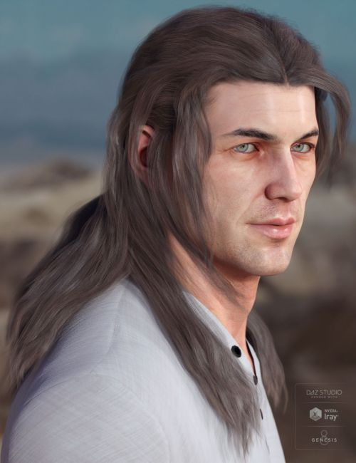Orson Hair for Genesis 3 & 8 Male(s)