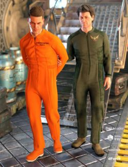 dForce Coveralls and Tools Textures