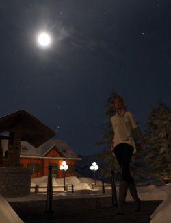 Orestes Iray HDRI Skydomes - Winter Moon