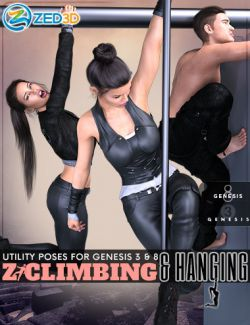 Z Utility Climbing and Hanging Poses for Genesis 3 and 8