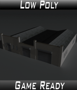 Low Poly Factory Building 24 - Extended Licence