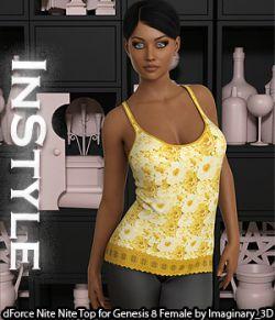 InStyle- dForce Nite Nite Top for Genesis 8 Female