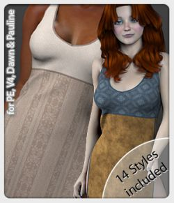 Anya Dress and 14 Styles for PE, V4, Dawn and Pauline
