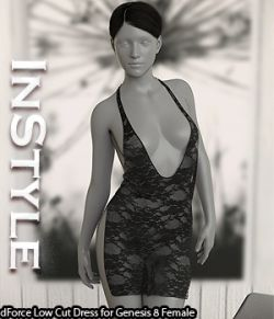 InStyle- dForce Low Cut Dress for Genesis 8 Female
