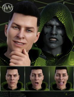 Faces of Our Hero- Expressions for Genesis 8 Male and Nix 8