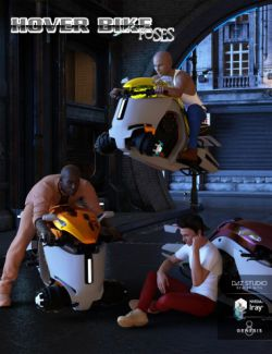 Hoverbike Poses for Genesis 8 Male(s)