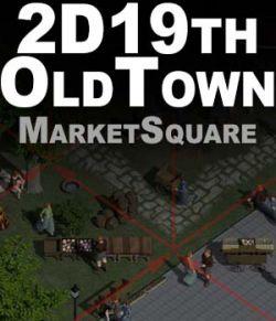 2D XIX century Old Town Market Square