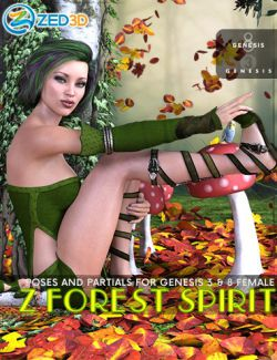 Z Forest Spirit Poses for Genesis 3 and 8 Female