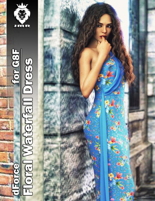 JMR dForce Floral Waterfall Dress for G8F