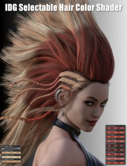 IDG Iray Selectable Hair Color Shader