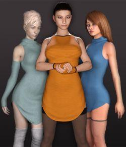 dForce Cold Shoulder Dress for G3F and G8F