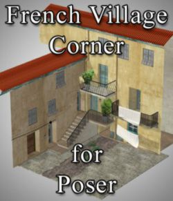 French Village Corner for Poser