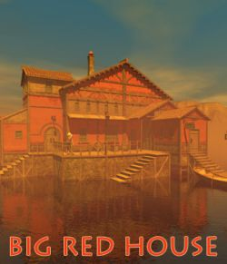 Big red house