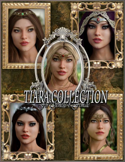 EJ Tiara Collection for Genesis 8 Female(s)