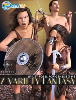 Z Variety Fantasy Pose Collection for Genesis 3 and 8