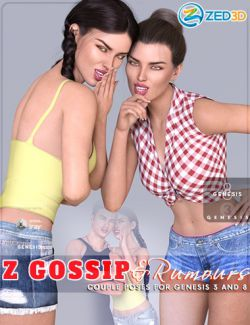 Z Gossip and Rumours Poses and Expressions for Genesis 3 and 8
