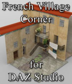 French Village Corner for DAZ Studio
