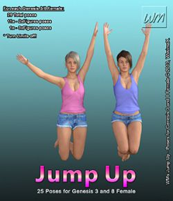WMs Jump Up- Poses for Genesis 3 and 8 Female