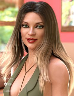 Andria Hair for Genesis 8 and Genesis 3 Female(s)