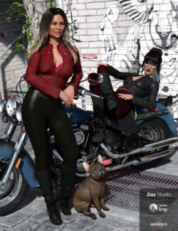 Moto Vixen Outfit Textures