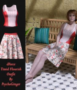 dForce Timid Flourish Outfit for G8F
